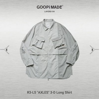"Goopi R3-LS ""AXLES"" 3-D Long Shirt - Gray"