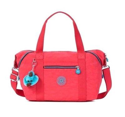 全新正品 Kipling HB7018 ART U 桃粉色 斜背包 手提包 肩背包