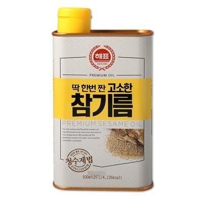 韓國CJ芝麻油~韓國麻油500ML~濃純香的韓國芝麻油