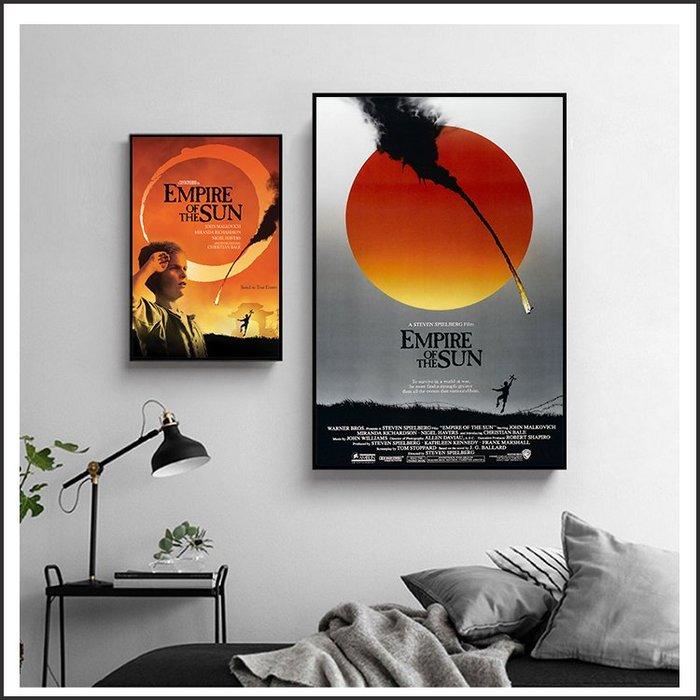 日本製畫布 電影海報 太陽帝國 Empire of the Sun 掛畫 無框畫 @Movie PoP 賣場多款海報#