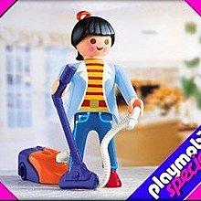 全新 Playmobil Mother with vacuum cleaner 媽媽連吸塵機