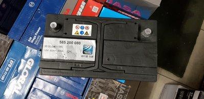 (鶯歌中古電池) 汎德賓士原廠 歐規85AH 免保養汽車電池 數值漂亮,品項優 同58014 歐系車專用
