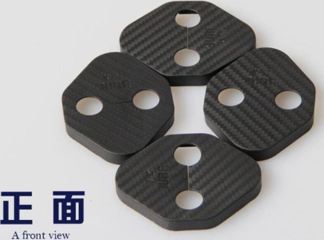 納智捷 LUXGEN U5 U6 S5 S3 專用 防鏽門鎖扣裝飾蓋 卡夢版 (4片裝)