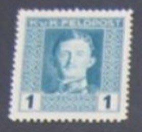 1918年奧地利帝國佔領地Emperor Karl I 軍郵1heller