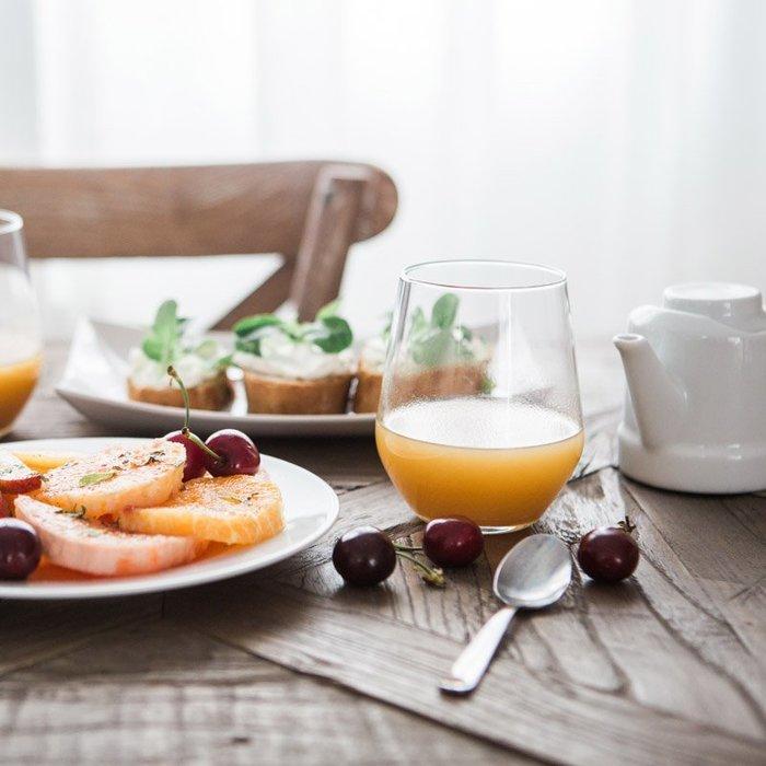 聚吉小屋 #簡約日式早餐杯牛奶杯玻璃杯果汁杯飲水杯子家用 餐廳慕斯雪杯