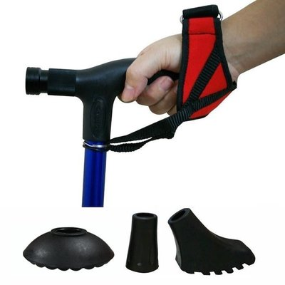 【Treewalker露遊】登山杖底部軟墊/彈性橡膠墊/擋泥托/腕帶(登山杖配件) 10元起