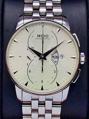 重序名錶 MIDO 美度 Baroncelli 永恆系列 M8607.4.11.1 自動上鍊計時腕錶