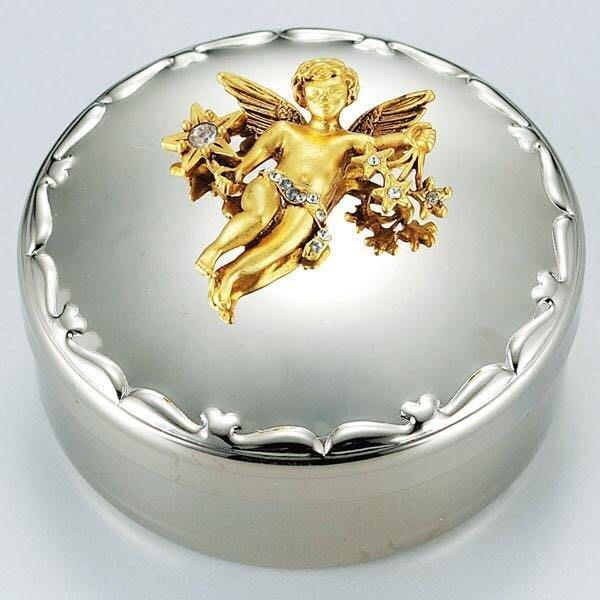 《齊洛瓦鄉村風雜貨》日本zakka雜貨 高桑金屬邱比特飾品收納盒 歐式收納盒 18-8不鏽鋼收納盒 珠寶盒