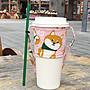 可愛柴犬 環保杯套 飲料提袋 柴犬 狗狗杯套 帆布袋 手提袋 水壺 杯子 提袋 麻布提袋 杯套 飲料杯