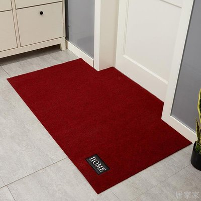 居家家 PU革貼布繡進門地墊入戶門墊家用廚房衛生間腳墊臥室門口地毯