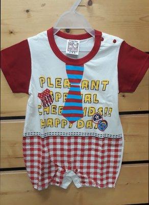 兔衣寶寶衣服 嬰兒 福士短袖台灣製造