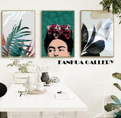 C - R - A - Z - Y - T - O - W - N 植物花卉美式人物裝飾畫 綠色藝術掛畫 空間設計裝飾畫