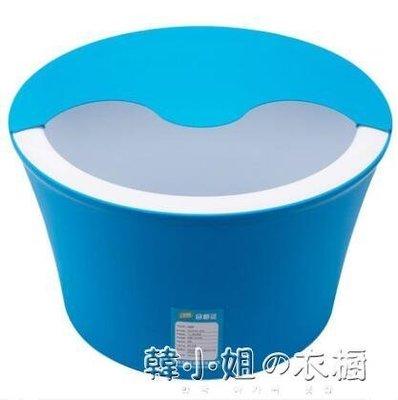泡腳桶塑料保溫足浴盆恒溫加厚加高深桶洗腳盆木桶蓋按摩神器家用YXS