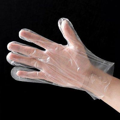 ☜shop go☞ 薄手套 染髮 加厚 拋棄式 手扒雞手套 透明 薄膜 食品 透明 一次性 手套 100入 【G026】