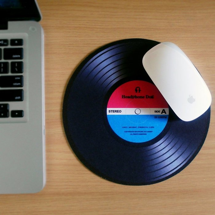 【HeadphoneDog】DJ刷碟造型滑鼠墊  (technics,serato)