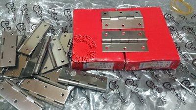 """速發~3"""" 1.2mm 厚 丁雙 鉸鍊 活頁 後鈕門栓後鎦 白鐵不鏽鋼丁雙 一組~15元"""