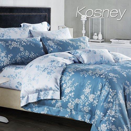 【Kosney寢具專賣】特大100%天絲TENCEL六件式兩用被套床罩組【雙色羅曼史CTX580】下標前先詢問有無現貨