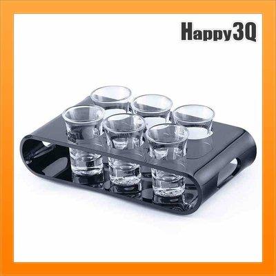 酒吧BAR夜店調酒派對子彈杯一口杯烈酒杯調酒套組花式調酒盤SHOT杯-6杯/8杯【AAA3018】
