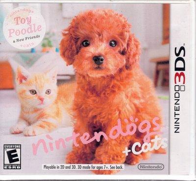 3DS美規專用遊戲 任天狗 + 貓與紅貴賓犬 Nintendogs + cats 美版【板橋魔力】