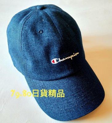【 柒玖捌零日貨精品 】現貨 日本限定 超夯全新正品 champion 冠軍帽 靛藍色 棒球帽 帽子 老帽 休閒帽