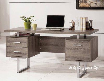 【設計私生活】康迪仕灰橡色5尺書桌(部份地區免運費)113S