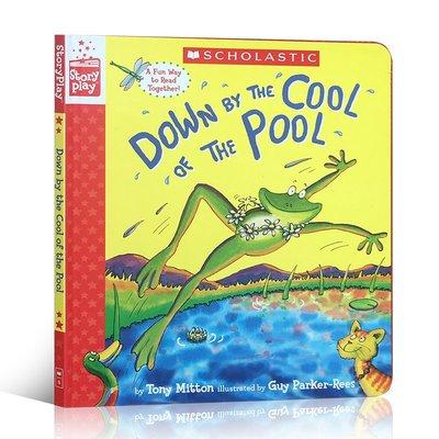 英文原版 Down by the Cool of the Pool 在涼爽的池塘邊跳舞 精裝游戲活動書啟蒙英語親子繪本角