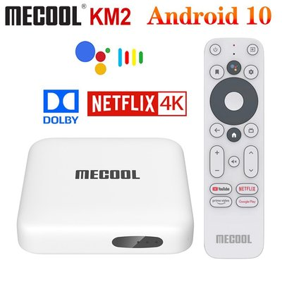 MECOOL KM2語音網路電視盒NETFLIX授權4K杜比認證ATV版支援Chromecast遠勝安博盒子易播小米盒子