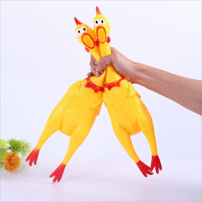 【阿LIN】194036 慘叫雞{大號} 40cm 舒壓玩具 發洩 搞笑 玩具雞 整人玩具