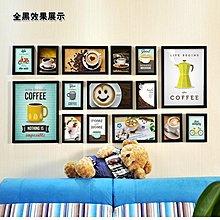 咖啡廳裝飾畫西餐廳照片牆畫歐式壁畫掛畫組合相框牆相片牆掛牆(2組可選)