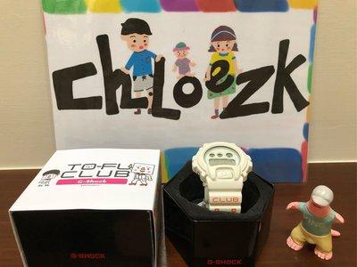 「CHLOE ZK」G-SHOCK DW-6900 tofu豆腐人 限量100隻 絕版(非REMIX DGK gt1 )