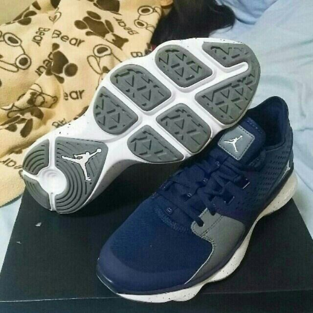 【99% New】NIKE AIR JORDAN FLOW 海軍藍 籃球訓練鞋 US10.5