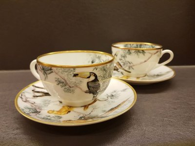 全新 Hermes 赤道叢林 咖啡杯/花茶杯 兩杯兩盤組