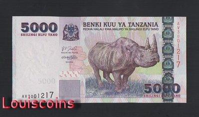 【Louis Coins】B1369-TANZANIA-ND (2003)坦桑尼亞紙幣,5000 Shilingi