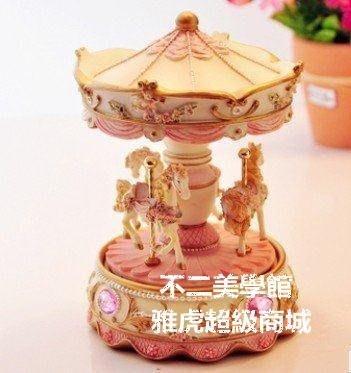 【格倫雅】天使旋律。旋轉木馬音樂盒 八音盒 七夕情人節結婚生日禮物男1551[g-l-y98