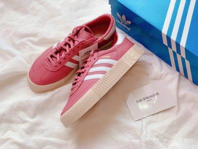 SUK 現貨 ♦️ Adidas Originals Samba Rose 玫瑰紅 粉色 增高 厚底 鬆糕 B28161