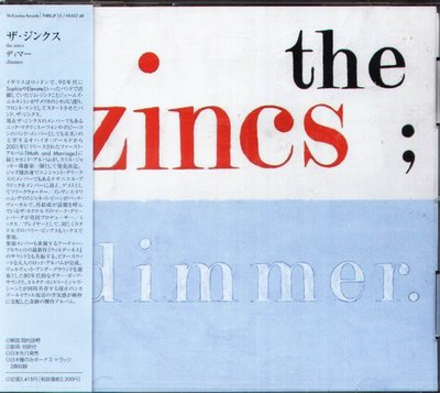 K - The Zincs - DIMMER - 日版 CD+2BONUS - NEW