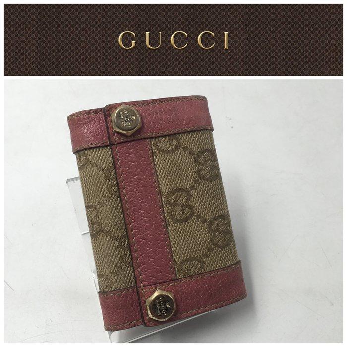 【皮老闆二店】二手真品 Gucci 錢包 皮夾 鑰匙包 L321