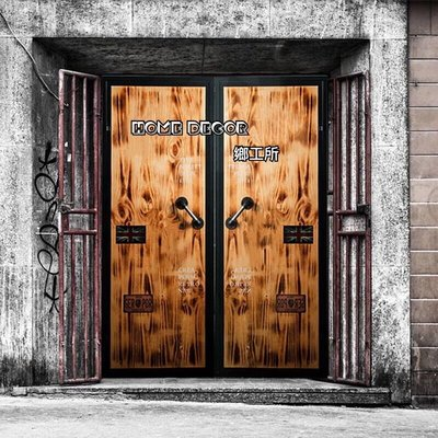 HomeDecor鄉工所 仿真貨櫃門 穀倉門 門片 貨櫃 鐵門 LOFT門板 實木 美式鄉村復古LOFT工業風貨櫃木門