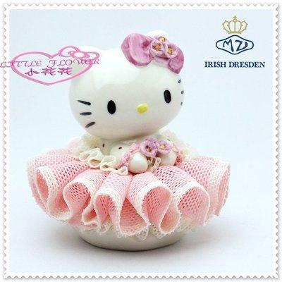 ♥小花花日本精品♥ Hello Kitty  陶瓷娃娃  愛爾蘭德累斯頓櫻花 擺飾偶 療癒小物 33155807
