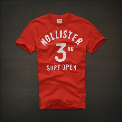 ?? Hollister 3rd Surf Open 刺繡貼布 T恤 (M) Abercrombie A&F Hco