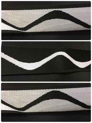 床墊邊帶「百搭款-雙面 」黑白波浪曲線1盤80米(下單時請先 是否有貨)