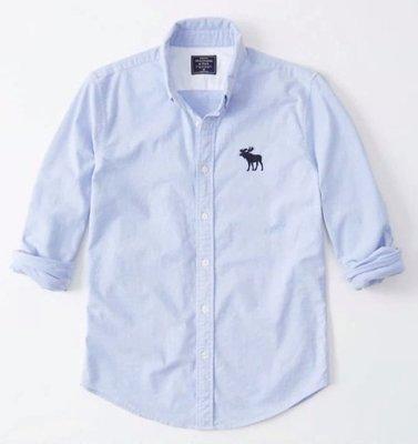 AF Abercrombie & Fitch 大麋鹿 牛津襯衫 長袖 襯衫 淺藍色