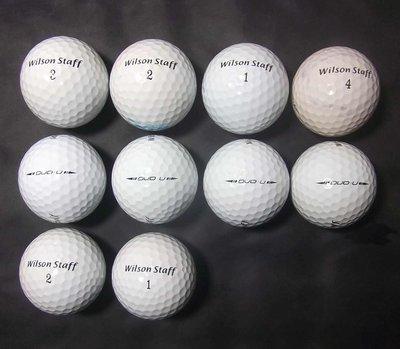 """新威全高爾夫*~特選8~9成新""""Wilson Staff DUO U""""頂級稀有三層球(共10顆"""