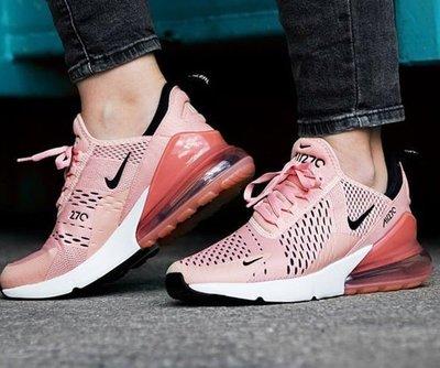 Nike Air Max 270  網面 粉白 黑勾 氣墊 櫻花粉 粉色 休閒 慢跑 女鞋 AH6789-600
