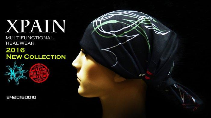 市面唯一西班牙製高品質,2016最新款 1% 13 復古 美式 拉線 線條 圖騰 蒸氣龐克 多功能頭巾 面罩 魔術頭巾