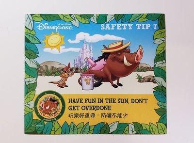 Disney 迪士尼樂園限定貼紙 - 丁滿&彭彭 Safety Tips