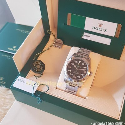 【My Boutique-珍品屋】2019年保卡!盒單齊全雙吊牌!勞力士Rolex 116900 Air King空中霸王~極新~少用收藏品~3131機芯