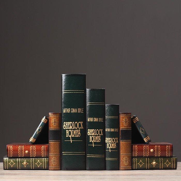 〖洋碼頭〗仿真假書書擋裝飾品套裝書房間臥室辦公室個性擺設書籍道具擺件 ayj286