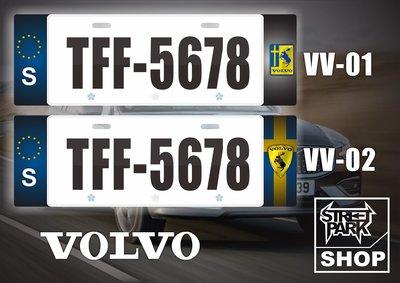 【STREET PARK】訂製 歐盟 車牌裝飾 Volvo XC40 XC60 V40【原價780$ 特價 580$】