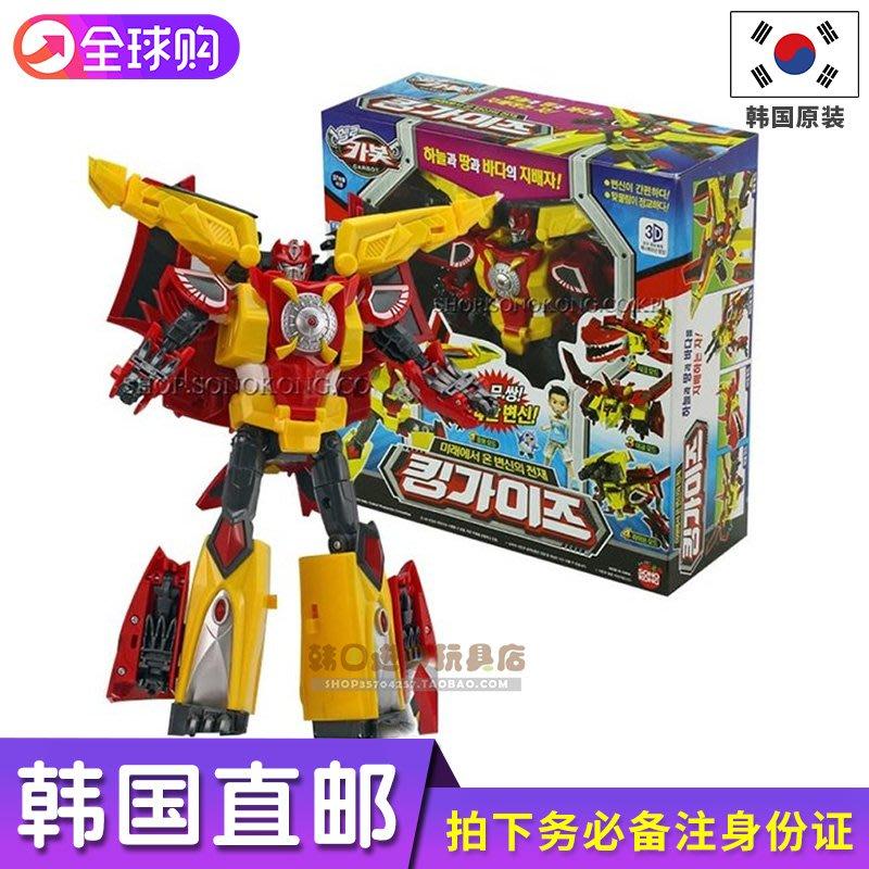韓國直郵hello carbot 合體變形機器人 4款模式變形金剛玩具男孩